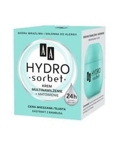 AA HYDRO SORBET MULTI MOISTURIZING & MATTIFYING FACE CREAM FOR MIXED & OIL SKIN