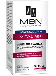 AA OCEANIC MEN HYPOALLERGENIC ANTI-WRINKLE FACE CREAM VITAL 40+