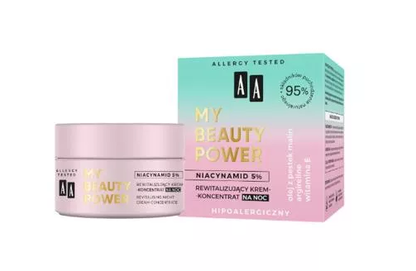 AA OCEANIC MY BEAUTY POWER REVITALISING NIGHT CREAM CONCENTRATE FOR FACE HYPOALLERGENIC