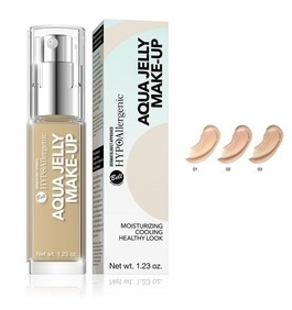 BELL HYPOallergenic AQUA JELLY MAKE-UP MOISTURIZING MATTIFYING FACE FOUNDATION JELLY CONSISTENCY