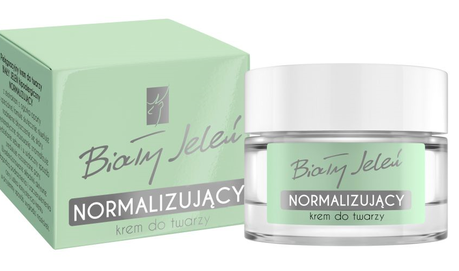 BIALY JELEN - WHITE DEER DAILY CARE FACE CREAM NORMALIZING & ANTI-ALLERGIC GREEN BOX