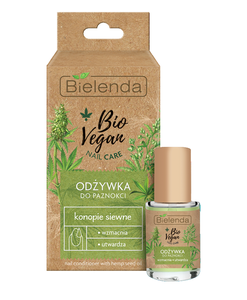 BIELENDA BIO VEGAN NAIL CARE NAIL CONDITIONER STRENGTHENING & HARDENING HEMP SEED