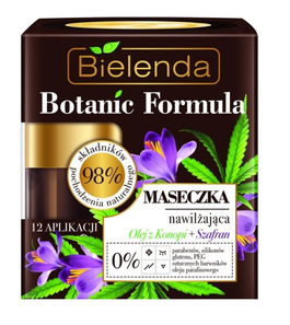 BIELENDA BOTANIC FORMULA MOISTURIZING FACE MASK WITH HEMP OIL + SAFFRON PARABEN FREE