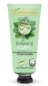BIELENDA BOTANICAL CLAYS VEGAN FACE CREAM WITH GREEN CLAY DETOX & NORMALIZATION