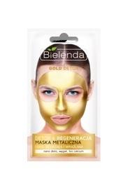 BIELENDA GOLDEN DETOX DETOXIFYING METALIC FACE MASK FOR MATURE AND SENSITIVE SKIN