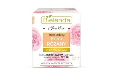 BIELENDA ROSE CARE ROSE FACE CREAM MOISTURIZES, SOOTHES REFRESHES DAY NIGHT