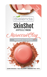 BIELENDA SKIN SHOT MARROCAN CLAY AMPOULE FACE MASK REGENERATING