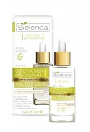 BIELENDA SUPER POWER MEZO SERUM ACTIVE CORRECTIVE FACE SERUM DAY NIGHT 10% AHA MANDELIC ACID