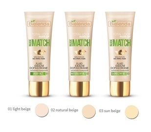 BIELENDA TOTAL LOOK MAKE-UP IDEAL MATCH FOUNDATION FLUID NUDE MATCH