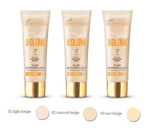 BIELENDA TOTAL LOOK MAKE-UP ILLUMINATING FOUNDATION FLUID NUDE GLOW