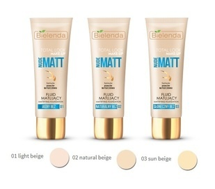 BIELENDA TOTAL LOOK MAKE-UP MATTIFYING FOUNDATION FLUID NUDE MATT
