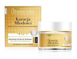 BIELENDA YOUTH TREATMENT ANTIWRINKLE MOISTURIZING FACE CREAM 40+ GOLD & SNAIL MUCUS DAY NIGHT