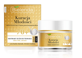 BIELENDA YOUTH TREATMENT ANTIWRINKLE REVITALIZING FACE CREAM 70+ GOLD & SNAIL MUCUS DAY NIGHT