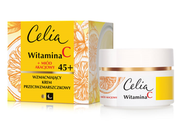 CELIA VITAMIN C + ACACIA HONEY STRENGTHENING ANTIWRINKLE FACE CREAM 45+ DAY NIGHT