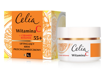 CELIA VITAMIN C + PLANT CERAMIDES LIFTING ANTI-WRINKLE FACE CREAM 55+ DAY NIGHT