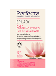 DAX COSMETICS PERFECTA EPILADY SUGAR WAXING STRIPS FOR FACE DEPILATION 24PCS