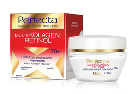 DAX COSMETICS PERFECTA MULTI-COLLAGEN RETINOL FACE CREAM ANTIWRINKLES & FRIMING 50+ DAY NIGHT