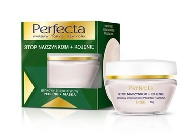 DAX COSMETICS PERFECTA STOP CAPILLARY + SOOTHING CLAY ENZYMATIC FACE PEELING / SCRUB + MASK