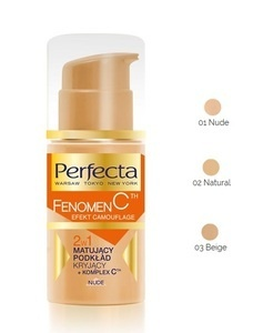 DAX PERFECTA FENOMEN C 2w1 FOUNDATION MAKE-UP MATTIFYING & COVER CAMOUFLAGE