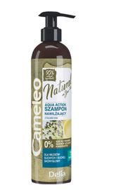 DELIA CAMELEO NATURAL AQUA ACTION HAIR SHAMPOO HYDRATION 95% NATURAL COMPONENTS