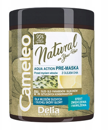 DELIA CAMELEO NATURAL AQUA ACTION PRE MASK FOR HAIR HYDRATING 95% NATURAL COMPONENTS