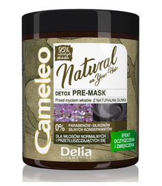 DELIA CAMELEO NATURAL DETOX HAIR PRE MASK CLEANSING 95% NATURAL COMPONENTS