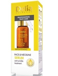 DELIA COMSETICS FACE & NECKLINE 100% LIPOSOMAL BRIGHTENING SERUM WITH VITAMIN C