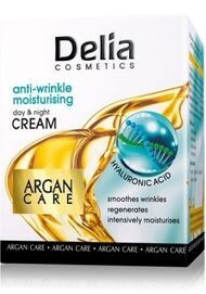 DELIA COSMETICS ARGAN CARE FACE CREAM DAY AND NIGHT MOISTURISING WITH HYALURONIC ACID