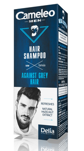 DELIA COSMETICS CAMELEO HAIR SHAMPOO FOR MEN AGAINST GREY HAIR