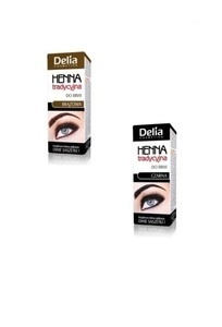 DELIA COSMETICS HENNA TRADYCYJNA JEDNORAZOWA ONE USE EYEBROW COLOUR