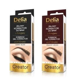 DELIA COSMETICS EYEBROW GEL CORRECTOR 4IN1 KOREKTOR DO BRWI BRAZ CZARNA
