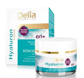 DELIA COSMETICS HYALURON FUSION 60+ FACE CREAM  CONCENTRATE ANTIWRINKLE FILLINGD/N