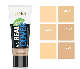 DELIA COSMETICS IT`S REAL COVER LIGHT VEGAN COVERING FOUNDATION MAKE-UP