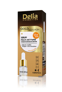 DELIA GOLD & COLLAGEN MULTI-ACTIVE AND ANTI-WRINKLES FACE SERUM DAY NIGHT