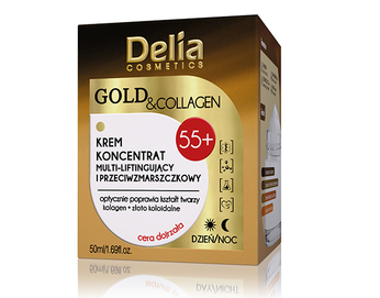DELIA GOLD & COLLAGEN MULTI-LIFTING AND ANTI-WRINKLES DAY NIGHT 55+