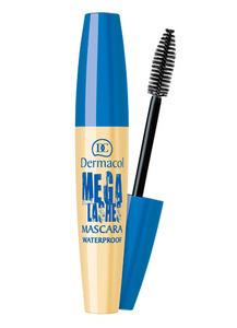 DERMACOL MEGA LASHES BLACK MASCARA WATERPROOF