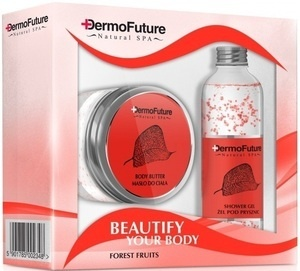 DERMOFUTURE BEUTIFY YOUR BODY  NATURAL SPA  FOREST FRUITS GIFT SET BUTTER + GEL