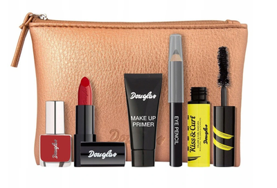 DOUGLAS ALL I WANT FOR MY MAKE-UP MASCARA PENCIL PRIMER LIPSTICK NAIL POLISH  BAG MAKE-UP SET
