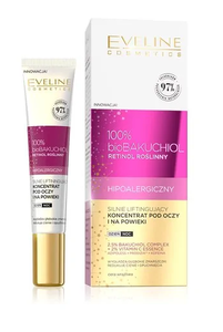 EVELINE 100% bio BAKUCHIOL EYE & EYELID CONCENTRATE CREAM STRONG LIFTING HYPOALLERGENIC DAY / NIGHT