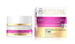 EVELINE 100% bio BAKUCHIOL ULTRLIFTING & WRINKLES FILLER FACE CREAM HYPOALLERGENIC DAY NIGHT 60+
