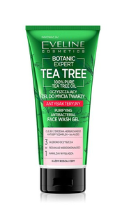 EVELINE BOTANIC EXPERT TEA TREE PURYFING FACE WASH GEL ANTIBACTERIAL 3in1