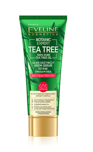 EVELINE BOTANIC EXPERT TEA TREE STRONGLY NOURISHING HAND SERUM CREAM ANTIBACTERIAL SOS
