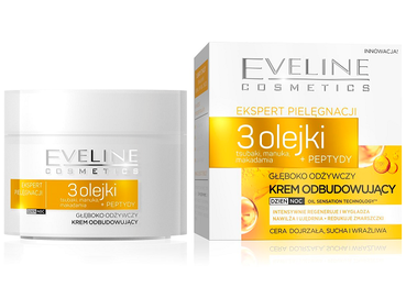 EVELINE CARE EXPERTS DEEPLY NOURISHING & RESTORING FACE CREAM 3 OILS + PEPTIDES