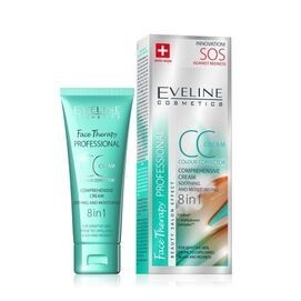 Eveline comprehensive face cream 8in1 CC colour corrector soothing moisturizing