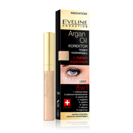EVELINE COSMETICS ARGAN OIL CONCEALER COVER ILLUMINATING 8IN1