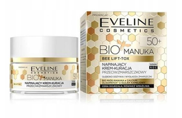 EVELINE COSMETICS BIO MANUKA TIGHTENING FACE CREAM ANTI-WRINKLES TREATMENT 50+ DAY NIGHT