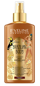 EVELINE COSMETICS BRAZILIAN BODY LUXURY GOLD BODY HIGHLIGHTER 5in1 SUNKISSED SKIN