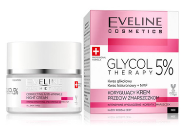 EVELINE COSMETICS GLYCOL THERAPY 5% CORRECTING ANTI-WRINKLE FACE CREAM NIGHT