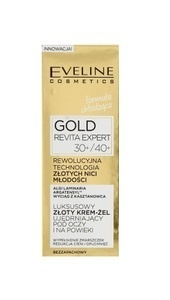 EVELINE COSMETICS GOLD REVITA EXPERT GOLD EYE AND LID CREAM GEL