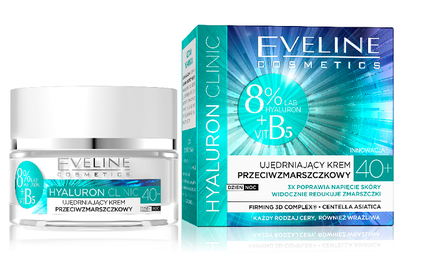 EVELINE COSMETICS HYALURON CLINIC FIRMING ANTI-WRINKLE FACE CREAM 40+